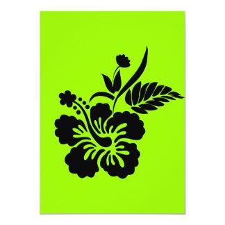 png_69-flowers- negro hawaiano de la flor del invitación 12,7 x 17,8 cm