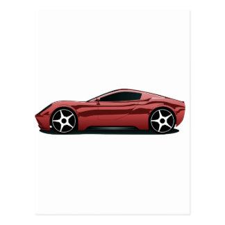 Png rojo del coche deportivo tarjetas postales