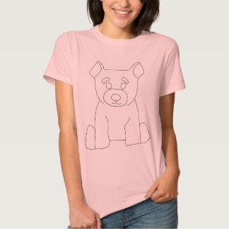 Poca camiseta de las mujeres del oso