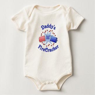 Body Para Bebé Poca camiseta del petardo del papá