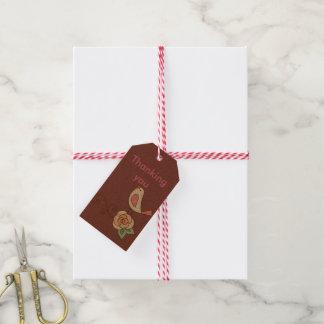 Poca etiqueta del regalo del chirrido etiquetas para regalos