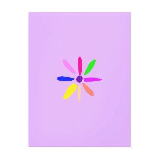 Poca flor lona estirada galerías