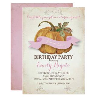Poca invitación de la fiesta de cumpleaños de la