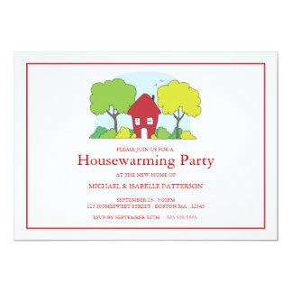 Poca invitación roja del fiesta del estreno de una
