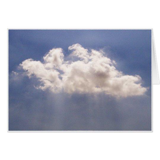 Poca nube tarjeta de felicitación