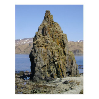 Poca roca del sacerdote, isla de Unalaska Tarjeta Postal