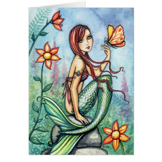 Poca tarjeta de la sirena de la selva por Molly