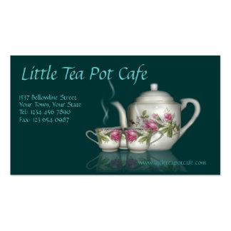 Poca tarjeta de visita del café del pote del té