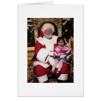 Poca tarjeta del problema de Santa