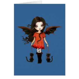 Poca tarjeta del vampiro de Halloween