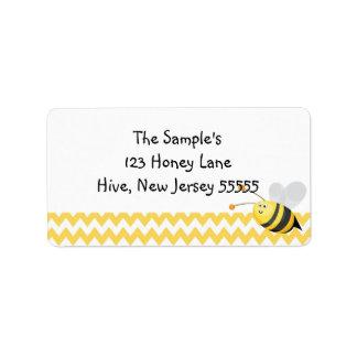 Pocas etiquetas de la miel