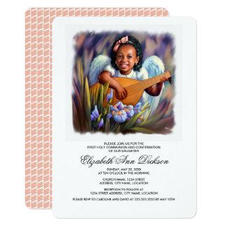 Pocas invitaciones de la comunión santa del ángel invitación 12,7 x 17,8 cm