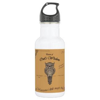 Poción de la sabiduría del búho botella de agua