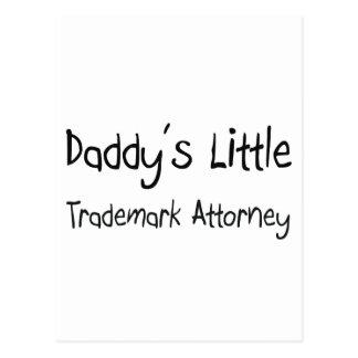 Poco abogado de la marca registrada del papá postal