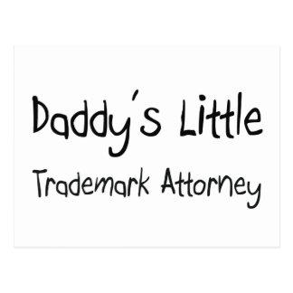 Poco abogado de la marca registrada del papá postales