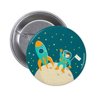 Poco astronaute en la luna pins