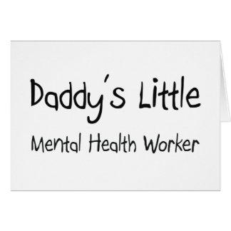 Poco ayudante de la sanidad mental del papá felicitacion