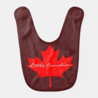 Poco babero rojo canadiense del bebé    de la hoja