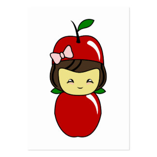 Poco chica de Kawaii Apple Plantillas De Tarjetas De Visita