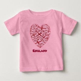 Poco diseño de la bandera de la fan de Inglaterra Camisetas