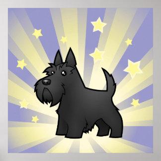 Poco escocés Terrier de la estrella Póster