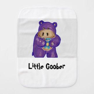 Poco Goober el paño del Burp del hipopótamo Paños De Bebé