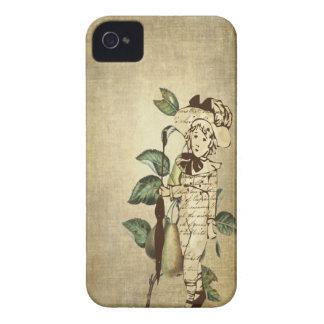 Poco muchacho del vintage en atuendo del vintage Case-Mate iPhone 4 coberturas
