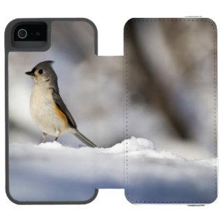 Poco pájaro de la nieve funda cartera para iPhone 5 watson