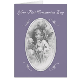 Poco primer día de la comunión del ángel tarjeton