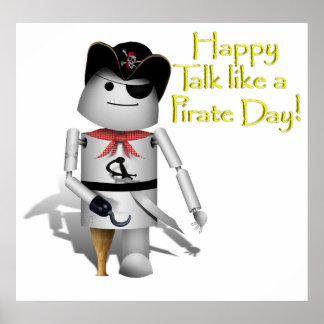 Poco Robo-x9 para la charla como un día del pirata Poster