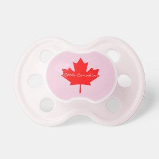 Poco soother rojo canadiense del bebé de la hoja chupete