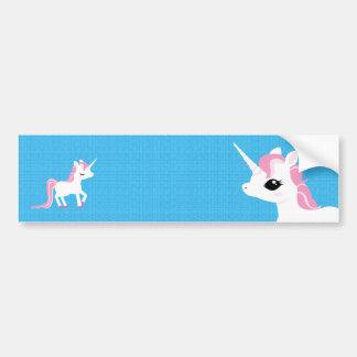 Poco unicornio con la pegatina para el parachoques pegatina para coche