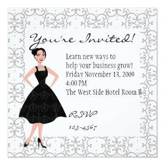 poco vestido negro invitaciones personalizada