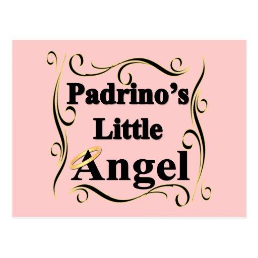 Pocos regalos y ropa del ángel de Padrino Tarjeta Postal