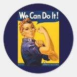 ¡Podemos hacerlo! Rosie el vintage WW2 del Etiquetas Redondas