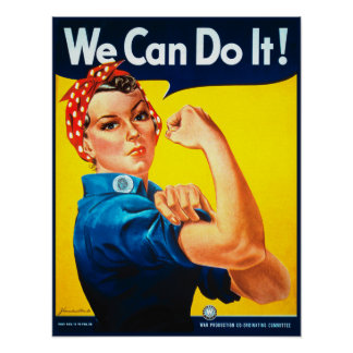 ¡Podemos hacerlo! Rosie la impresión del poster