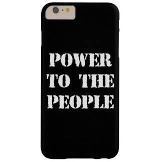 Poder a la gente funda barely there iPhone 6 plus