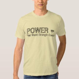 PODER =, coche de la fuerza del mundo real Camisetas