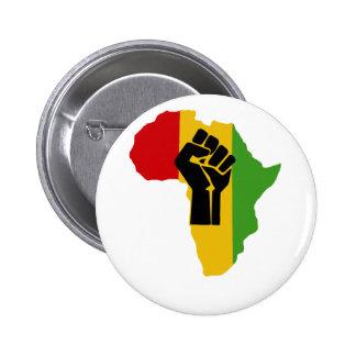 Poder de África - reggae Chapa Redonda De 5 Cm