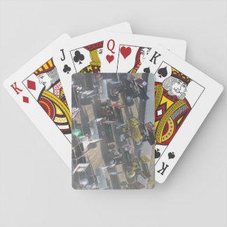 Poder de caballo del coche de carreras barajas de cartas