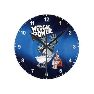 Poder de capitán Underpants el | Wedgie Reloj Redondo Mediano
