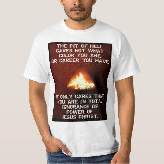 Poder de Cristo - el negro/las vidas azules Camiseta