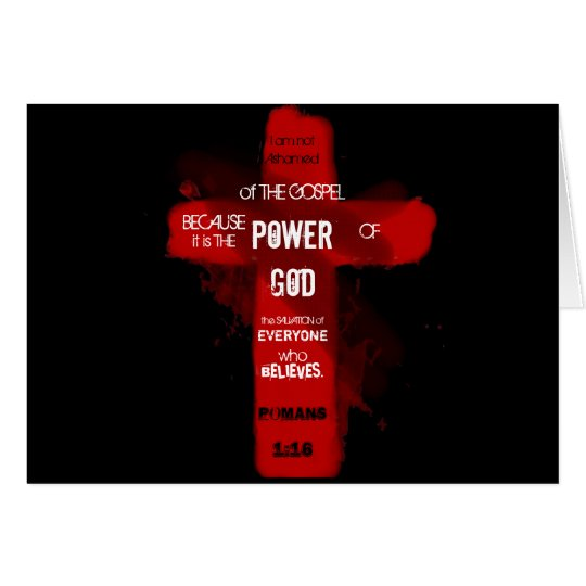 Poder de dios tarjeta de felicitación