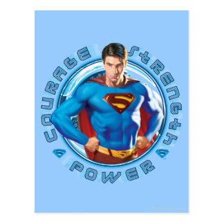 Poder de la fuerza del valor del superhombre postal