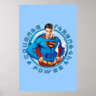 Poder de la fuerza del valor del superhombre impresiones