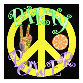 Poder de la paz y del fiesta - SRF Invitación 13,3 Cm X 13,3cm