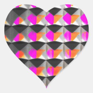 Poder de la pirámide pegatina en forma de corazón