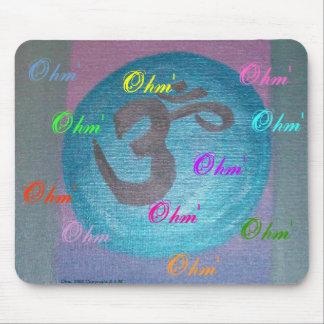 Poder de la yoga de Ohm Alfombrilla De Ratón