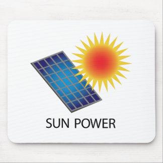 Poder de Sun Alfombrilla De Ratón