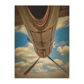 Poder del aeroplano impresión en madera